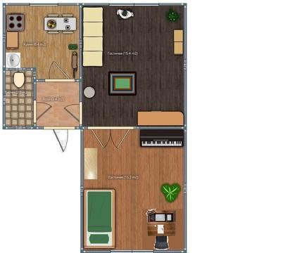 2 комнатная квартира за 1 млн! - Фото 1