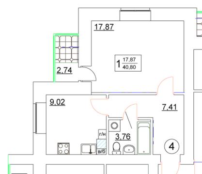 Квартира в ЖК Южная застава. Кирпичный дом, индивидуальное отопление! - Фото 3