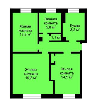 Продажа: 3 к.кв. ул. Достоевского, 14