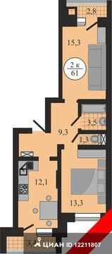 Продаю2комнатнуюквартиру, Тверь, улица Левитана, 58, Купить квартиру в Твери по недорогой цене, ID объекта - 320890445 - Фото 1
