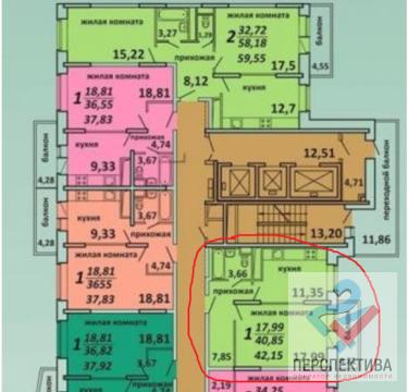 1к-квартира, 21/22 кирпичного дома по ул. Садовая д.3 к 1а 3-я секция - Фото 4