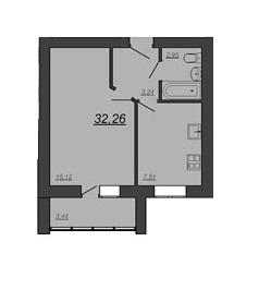 Продается 1-к Квартира, 32,26 м2, ул. Глазкова, 22 - Фото 2