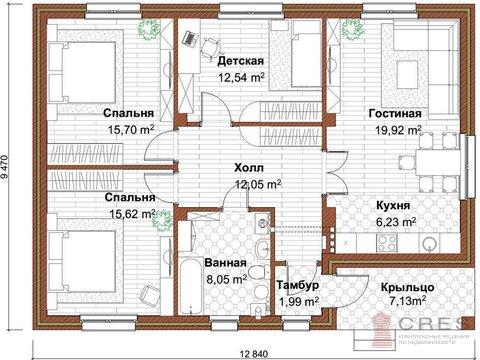 Коттедж 102 кв.м (кирпич) в коттеджном поселке Акбердино - Фото 3
