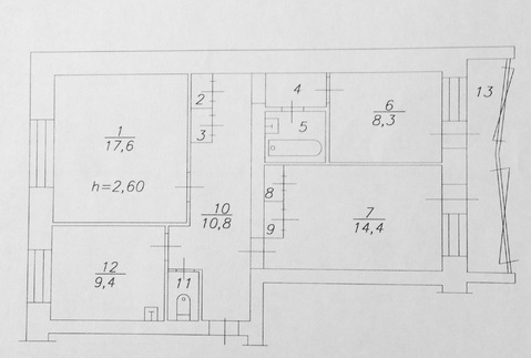 Продам 3 комнатную Ленина новой планировки - Фото 1