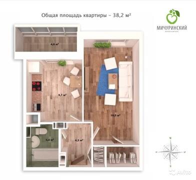 Однокомнатная квартира в новом доме с ремонтом! - Фото 5