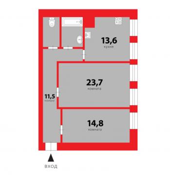 Продажа квартиры, м. Нарвская, Ул. Тракторная - Фото 1