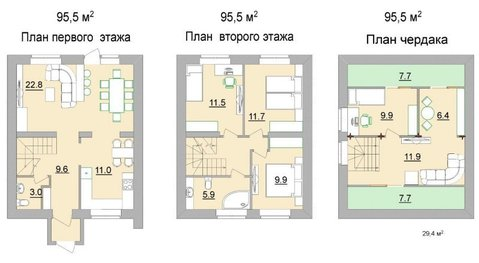 Туанхаус 95 кв.м в кп Стрижи - Фото 5