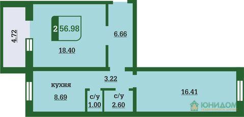 2 комнатная квартира в новом доме, ул. Маршака, д. 5 - Фото 2