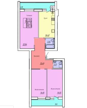 Объявление №51991360: Продаю 3 комн. квартиру. Смоленск, ул. Брянская 1-я, 1,
