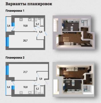 Однокомнатная квартира в ЖК Акварель! Новый кирпичный дом! - Фото 2