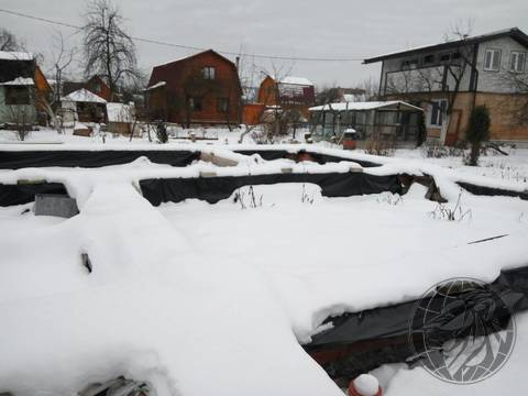 Участок с добротный фундаментом СНТ №7, Климовск, Подольск - Фото 4