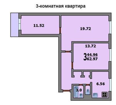 3-комнатная квартира. м.Медведково 10 мин.пешком - Фото 1