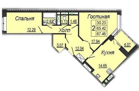 2-х комнатная квартира в новостройке ул. Кирова, д. 17
