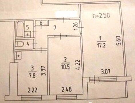 2 комн.квартира с лоджией. ул. Пермская,160 - Фото 2