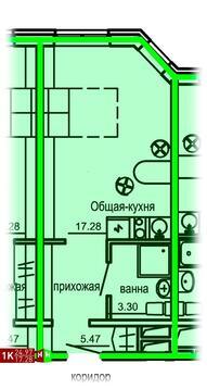 1 997 600 Руб., Продажа однокомнатные апартаменты 24.97м2 в Апарт-отель Юмашева 6, Купить квартиру в Екатеринбурге по недорогой цене, ID объекта - 315127769 - Фото 1