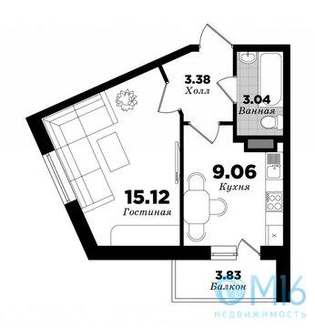 Продажа однакомнатной квартиры - Фото 1