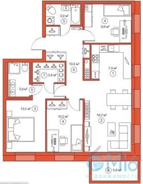 Продажа 3-комнатной квартиры, 81.41 м2 - Фото 2