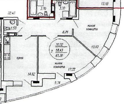 Двухкомнатная в центре по Калинина, 89