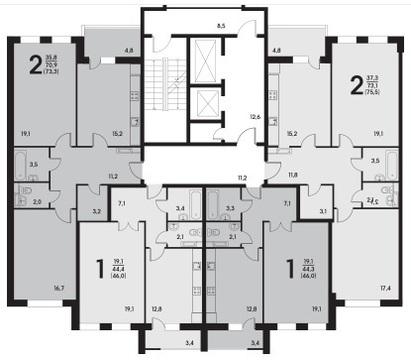 Продаю 1 комн. кв. в современном доме комфорт класса 46 кв.м - Фото 3