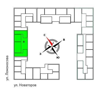 Продажа однокомнатная квартира 38.50м2 в ЖК Квартал Новаторов секция в - Фото 2