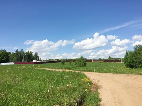 Участок 9,93 соток граничащий с лесом, д. Сазонки, 39 км. от МКАД - Фото 5