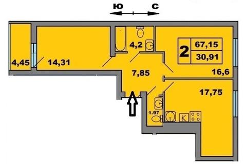 Двухкомнатная квартира от Застройщика - Фото 2