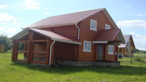 2х эт Дом 180м2 из оцилиндрованного бревна в Трубицино - Фото 1