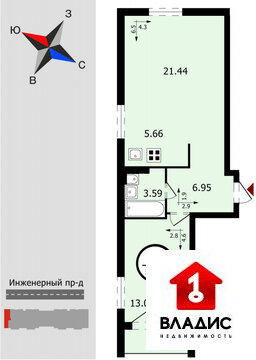 """ЖК """"Стрижи""""- квартиры, Богородский район, Новинки п, Инженерный ."""