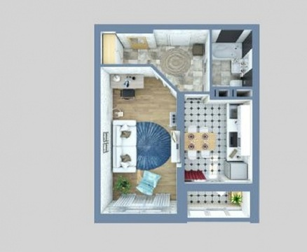 1 комнатная квартира в ЖК Царицынский 6 - Фото 5