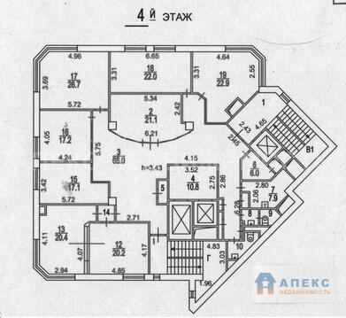 Аренда офиса 316 м2 м. Пушкинская в бизнес-центре класса А в Тверской - Фото 2
