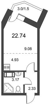 Продам студию. Дорога Жизни ш. к.3, Купить квартиру в Всеволожске по недорогой цене, ID объекта - 318418573 - Фото 1