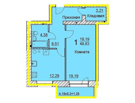 ЖК на Мельничной 1ка 50м2 - Фото 2