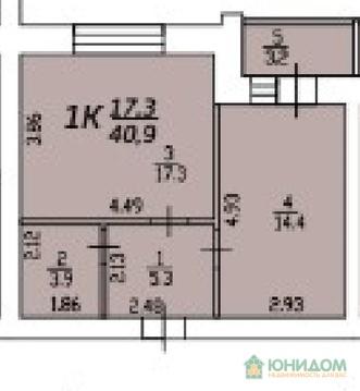 1 комнатная квартира в новом сданном доме, ул. Харьковская, Центр - Фото 2