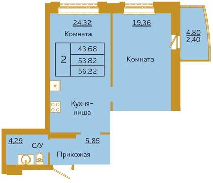 Объявление №50936924: Квартира 2 комн. Красноярск, ул. Партизана Железняка, 36,