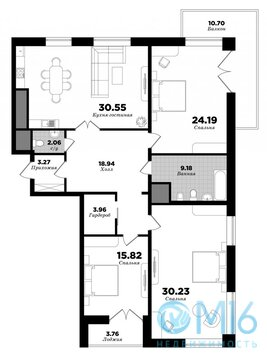 Продам трехкомнатную квартиру в ЖК neo - Фото 2