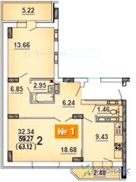 2-комн. квартира в новом доме, ул. Ньютона - Фото 2