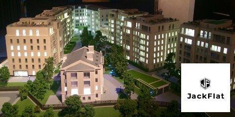 """ЖК """"Полянка,44""""-элитный комплекс квартир, 128 кв.м, 3 спальни, 3 этаж - Фото 1"""