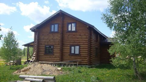 140м2 2хэтажный дом из оциллиндрованного бревна СНТ Трубицино, пруд. - Фото 1