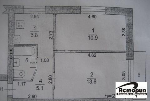 2 комнатная квартира в Подольском р-оне, г. Климовск, ул. Садовая 22 - Фото 2