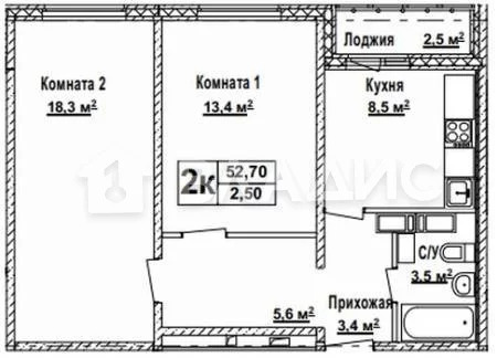 Объявление №51586301: Продаю 2 комн. квартиру. Нижний Новгород, Кораблестроителей пр-кт., 54,
