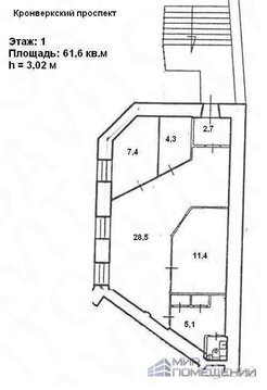 Офисное помещение 61,6 м2 на Горьковской - Фото 4