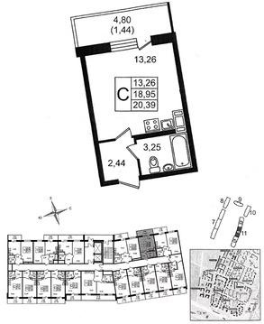 Объявление №50047764: Продаю 1 комн. квартиру. Мурино, Мурино, Шувалова ул., 19,