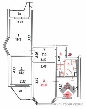 Продам 3-к квартиру, Москва г, Зеленоградская улица 23 - Фото 2