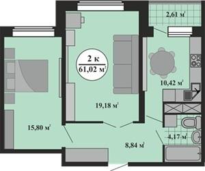 Квартира в новом доме. Ключи в день сделки! - Фото 5