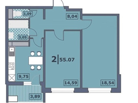 Продажа квартиры, Тюмень, Василия Подшибякина, Купить квартиру в новостройке от застройщика в Тюмени, ID объекта - 322889160 - Фото 1