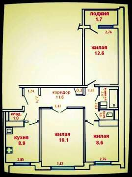 Продам 3 комнатную квартиру в северном - Фото 1