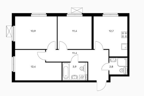 Объявление №50529971: Квартира 3 комн. Обнинск, ул. Курчатова, к2,