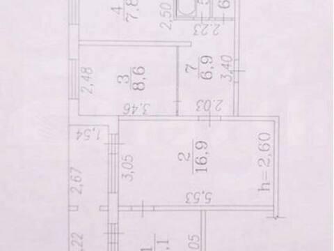 Продажа трехкомнатной квартиры на Новобайдаевской улице, 17 в ., Купить квартиру в Новокузнецке по недорогой цене, ID объекта - 319828413 - Фото 1