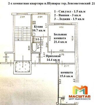 2-х комнатная квартира Шушары Лесоветовский 21 - Фото 1