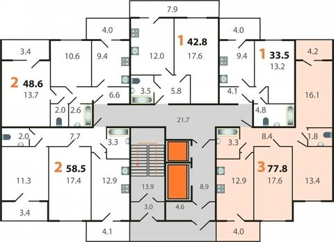 Продается 3-комнатная квартира на ул.Добросельская, д.186а - Фото 3